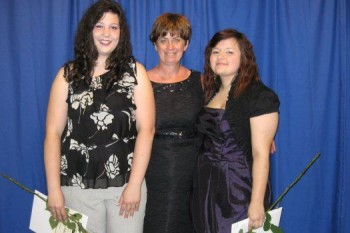 Katalina Smith (left), Johanne Coiteux of the Butters Foundation, and Catilyn Robert (right)