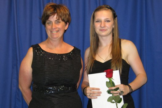 Johanne Coiteux, (left) of the Butters Foundation and Mariah Cote.